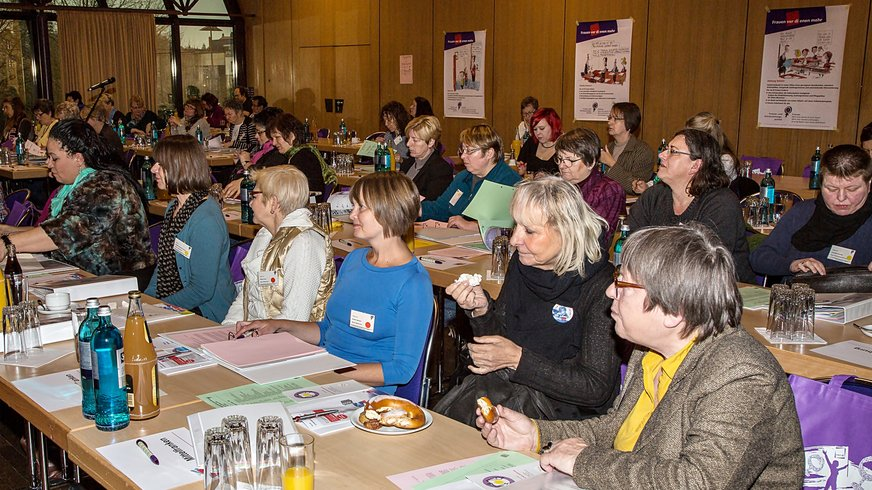 Delegierte und Gäste auf der Landesfrauenkonferenz 2015