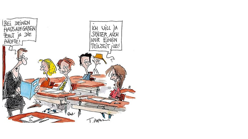 "Plakat ""Achtung Teilzeit"" (Plaßmann) Bühne"
