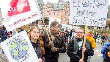Gesundheit Soziale Dienste Wohlfahrt und Kirchen, drei.71, Unsere Aktion, Klima, Klima retten! Workers for Future, Jugend